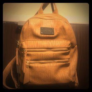 Leather back purse